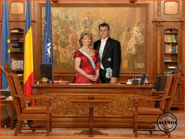Funny postcard Margareta si Radu Duda Hohenzollern