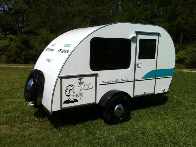 Tiny Yellow Teardrop Featured Teardrop Trekker Trailers
