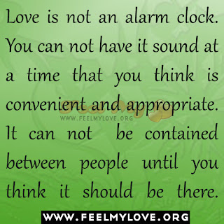 Love is not an alarm clock