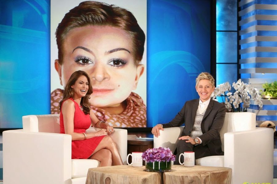 Oh my! We're certainly surprised Eva Mendes could come out of that live after ten weeks ago on September 12, she welcomed her adorable baby, Esmeralda.  Wearing a beautiful red dress, the 56-year-old took to Ellen DeGeneres show on Wednesday, December 3, 2014 to talking about the challenges of slimming down during the puerperal.