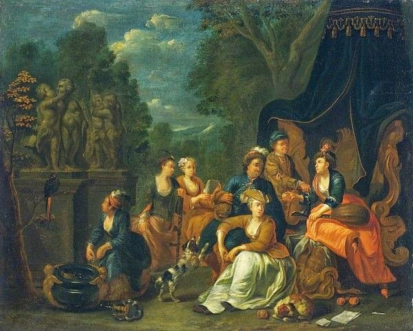 An Elegant Party in the Park by Frans Breydel
