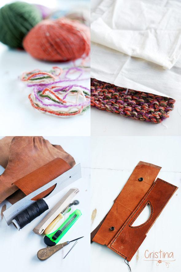 lanas, cuero, tela