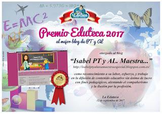 Premio Eduteca 2017 - Mejor blog de PT y AL
