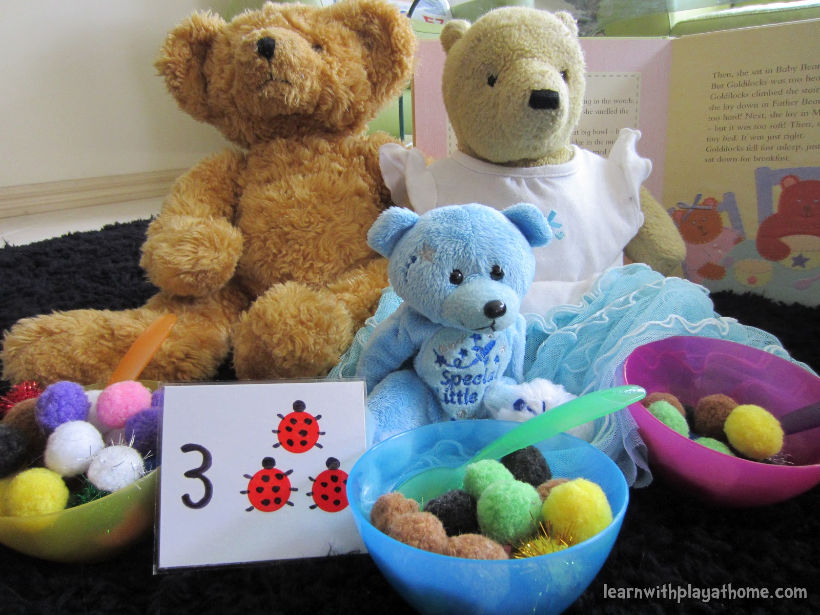 learn with play at home early maths with the 3 bears fun