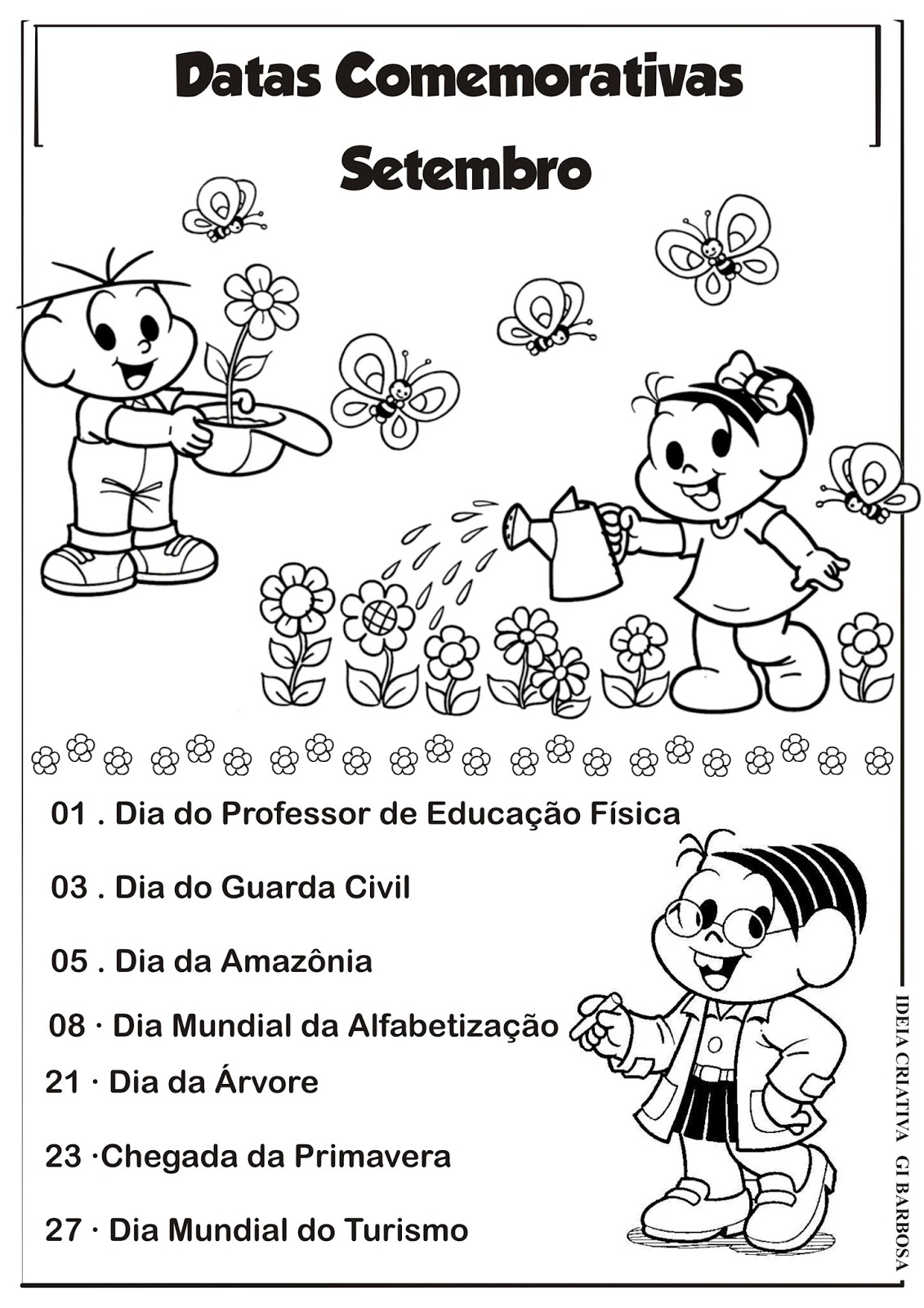 Top Datas Comemorativas de Setembro Arquivo Ilustrado | Ideia Criativa  IG49