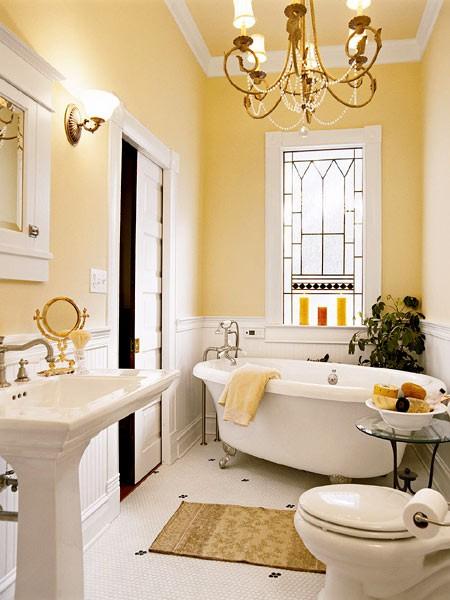 decorar apartamento Cottage idéias de estilo de decoração do banheiro