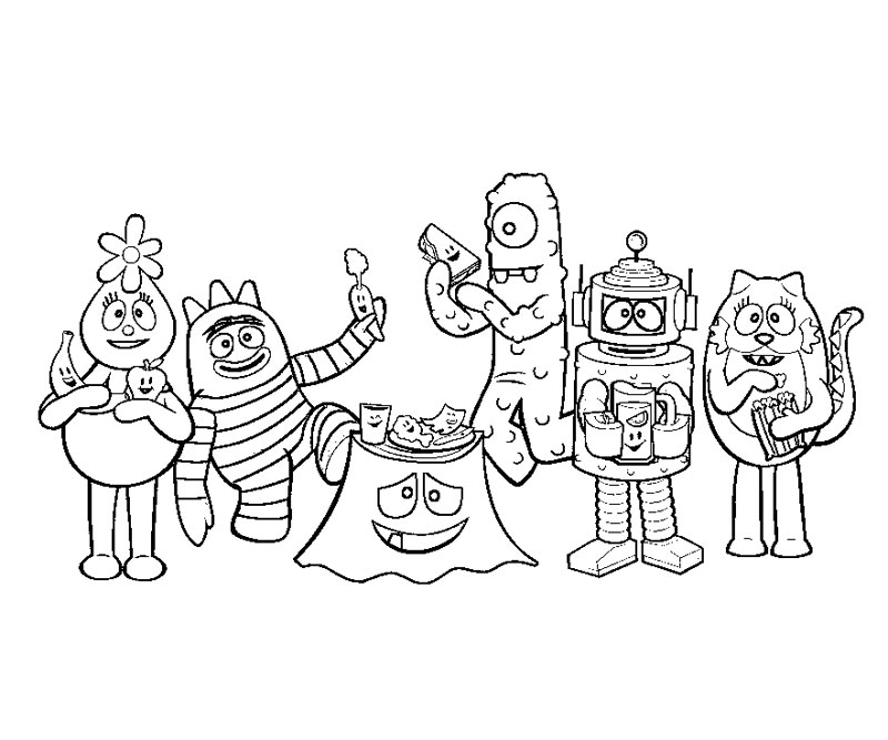 The gallery for yo gabba gabba boombox printables for Yo gabba gabba coloring pages