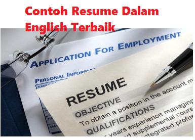 ... + CV + Resume +Example Contoh application letter bahasa inggris