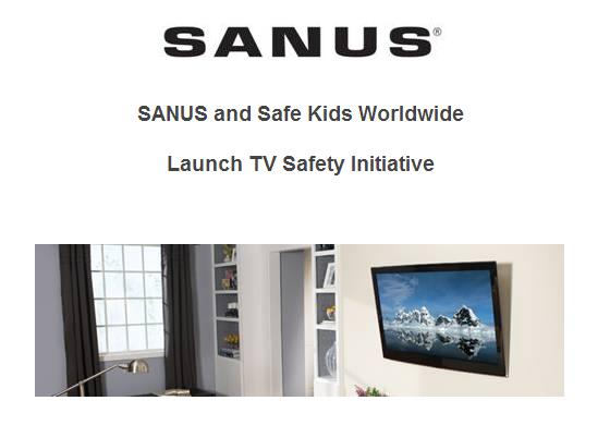 Sanus And Keeping Kids Safe Giveaway T V Mount It S