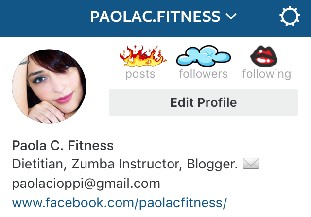 Follow my Fitness Instagram