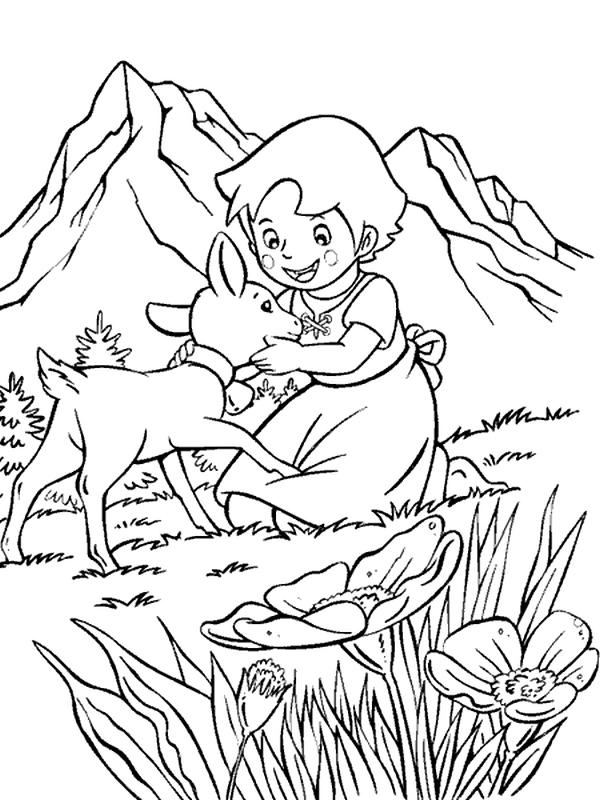 Heidi da colorare disegni stampare gratis