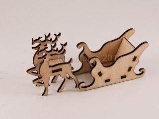 1/48th Reindeer & Sleigh laser cut Kit