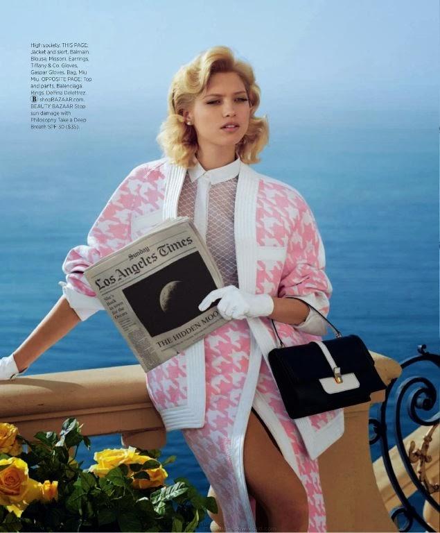 Hana Jirickova HQ Pictures Harper's Bazaar US Magazine Photoshoot March 2014