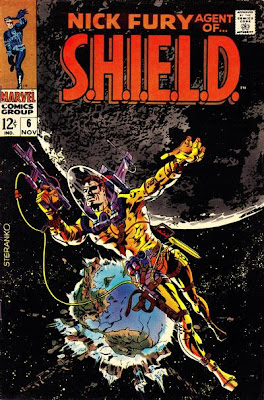 Nick Fury: Agent of SHIELD #6, Jim Steranko. Nick Fury in space