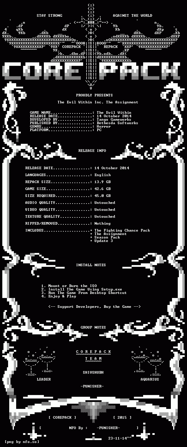 [PC] The Evil Within Inc. The Assignment | RePack By CorePack | 2015 V1Qc1oG