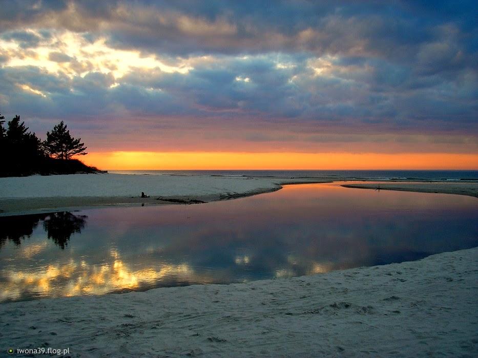 Dębki,plaża,rzeka,Piaśnica,morze