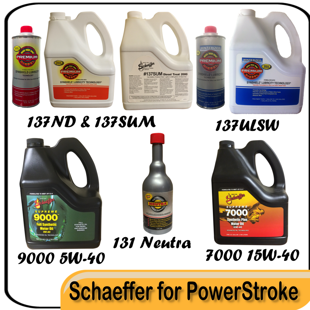 Schaeffer recommended oil and fuel treatments for ford powerstroke 6 0 diesel