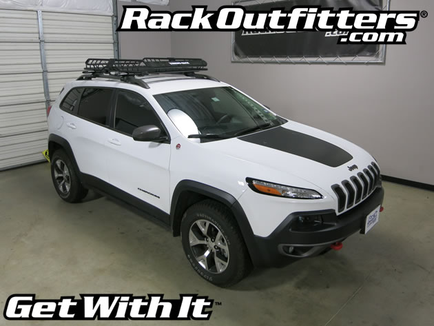 jeep cherokee trailhawk rhino rack sx vortex roof rack w rhino rack xtray large cargo basket. Black Bedroom Furniture Sets. Home Design Ideas