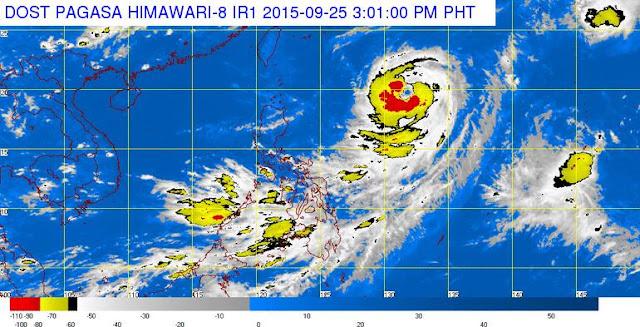 Typhoon Jenny intensifies