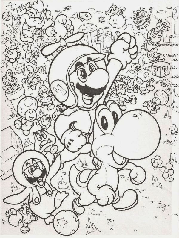 Online Coloring Super Mario Bros Coloring Pages For Kids New