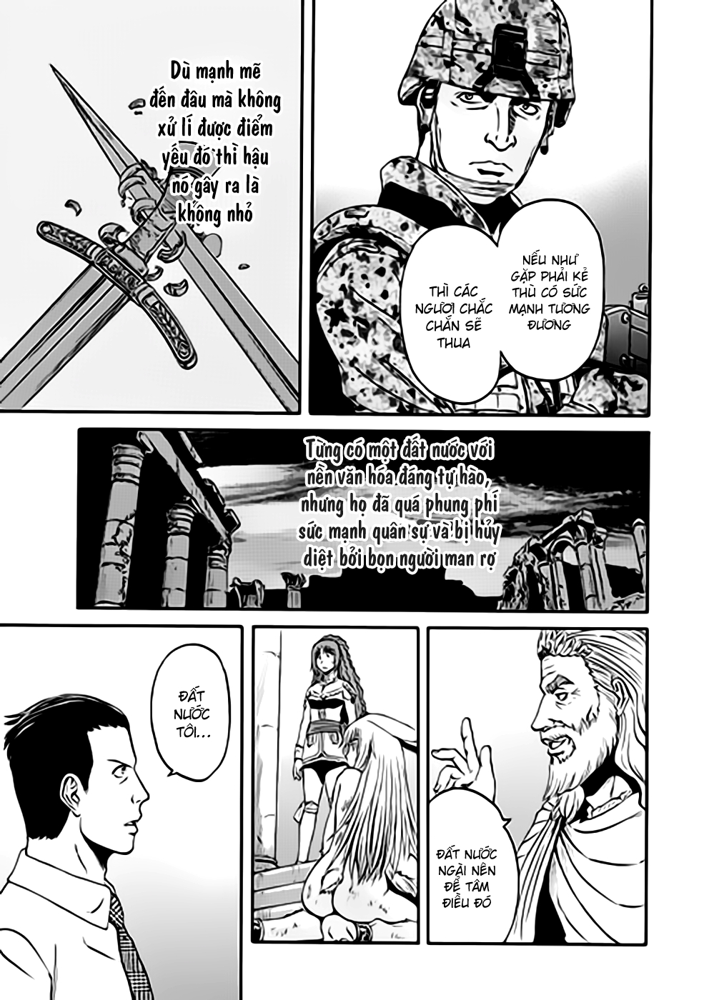 Gate – Jietai Kare no Chi nite, Kaku Tatakeri chap 35 Trang 17 - Mangak.info