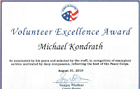 Volunteer Excellence Award