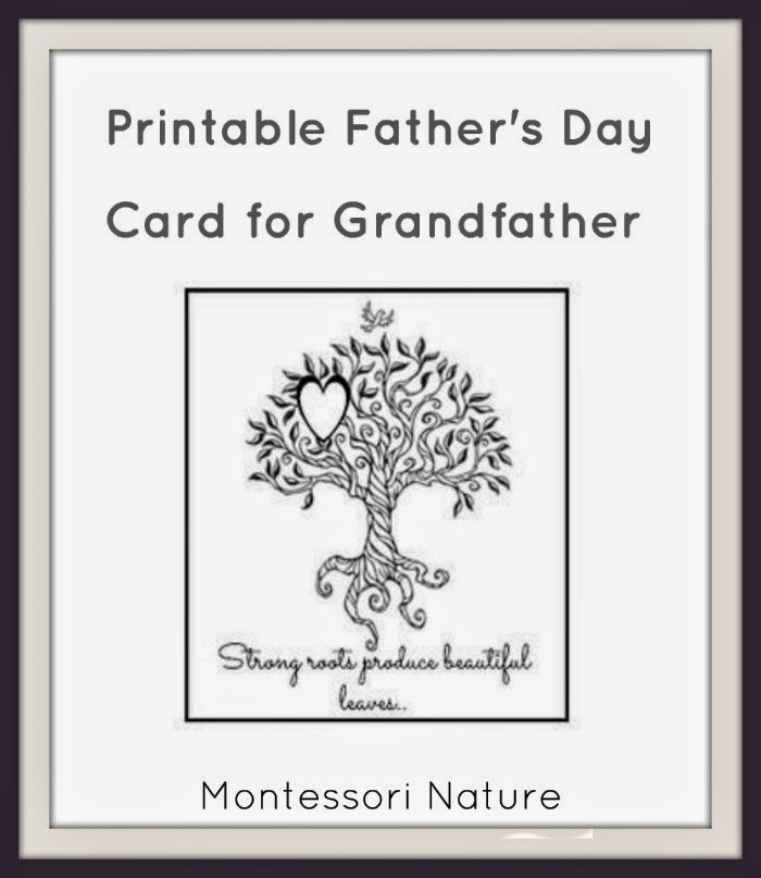 printable father s day card for grandfather klp linky party