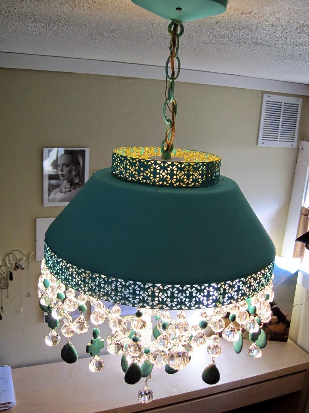 Nice Turquoise Light Chandelier