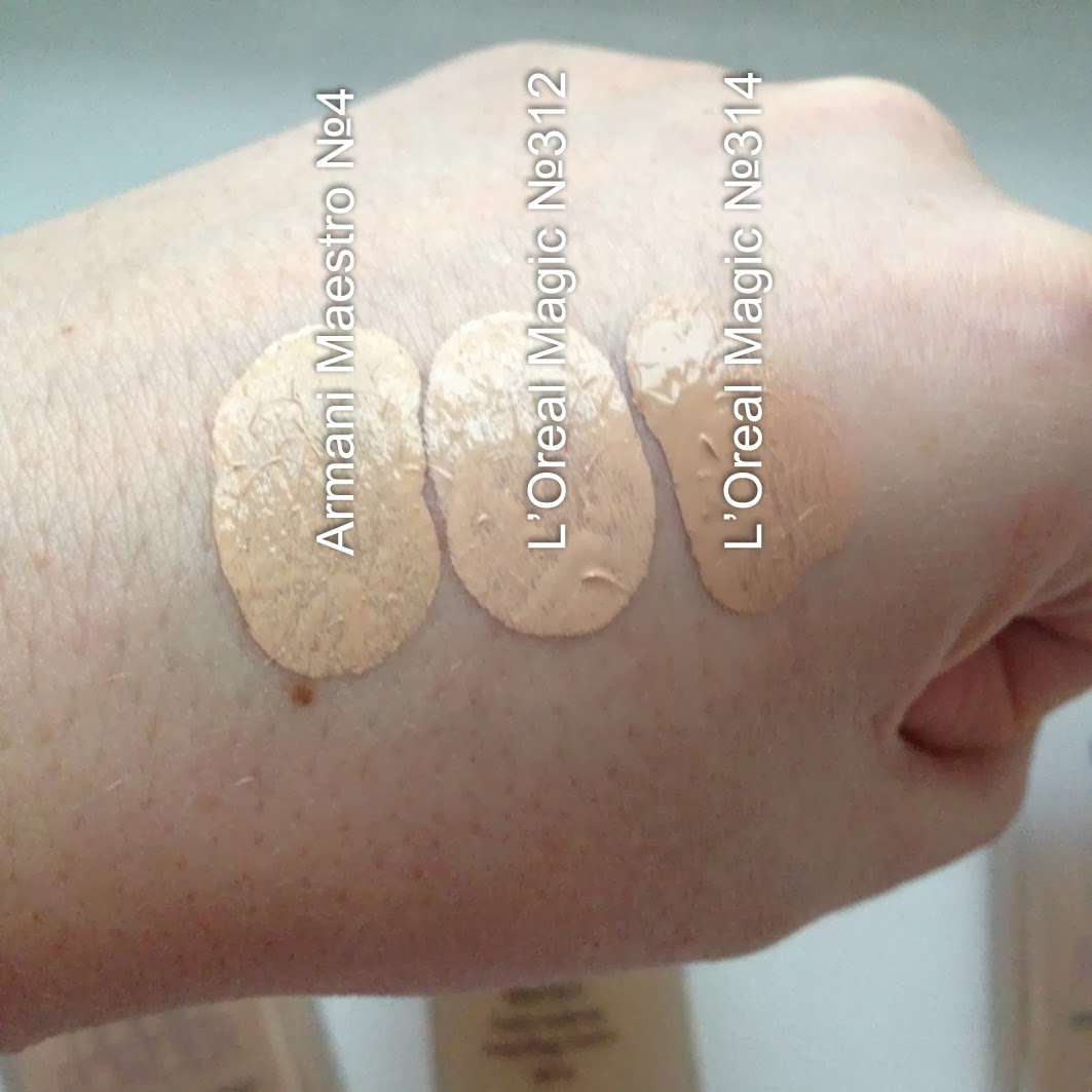 Loreal nude magic liquid powder swatch