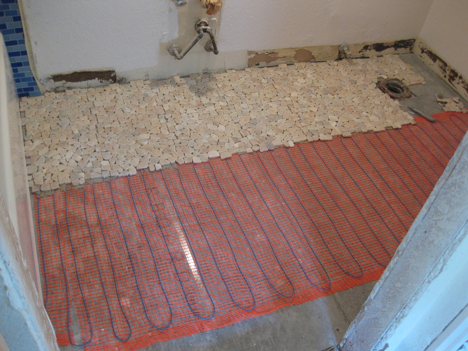 Heated Stone Bathroom Floor