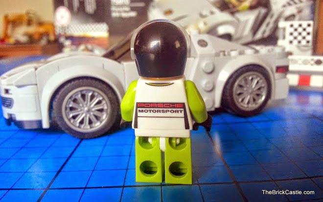 LEGO Porsche 918 Spyder 75910 Hybrid Supercar racing driver minifigure