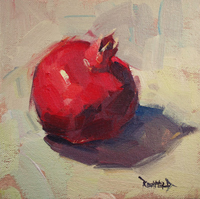 One Pom - original oil painting