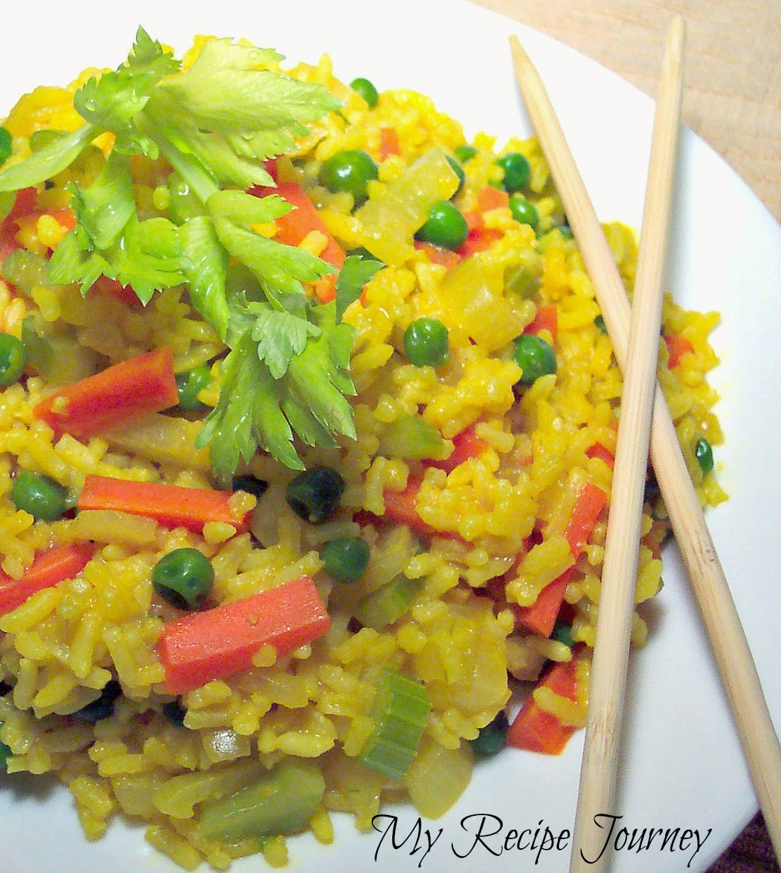 Super Easy Asian Yellow Rice