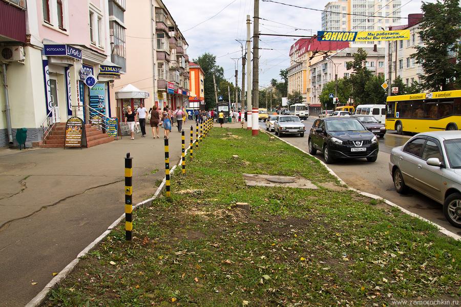 Саранск, проспект Ленина, 20, свежая вырубка