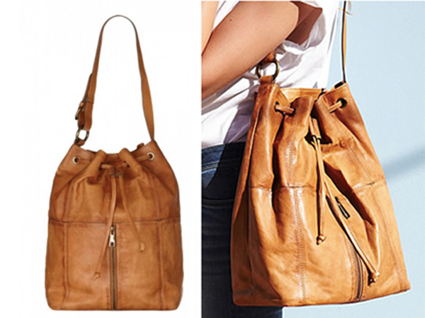 Leather duffle bag from Plumo