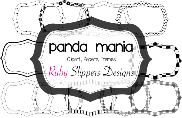 Ruby Slippers Blog Designs: Black and White Clipart Frames $2.50