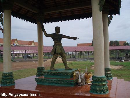 Ta Dambang Dek (Grandpa with an iron staff): A statue at the Khmer Rouge ...
