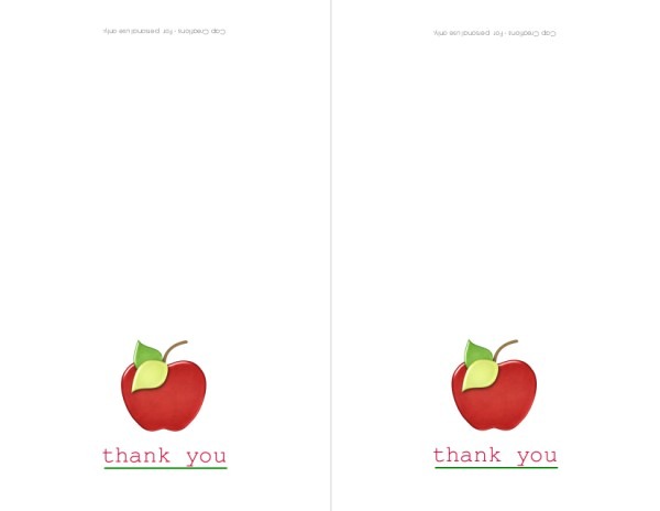 thank you notes to teachers. Thank you Teachers!