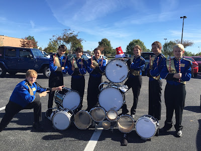 Montgomery Catholic's Marching Knights March in Christmas Parade 1