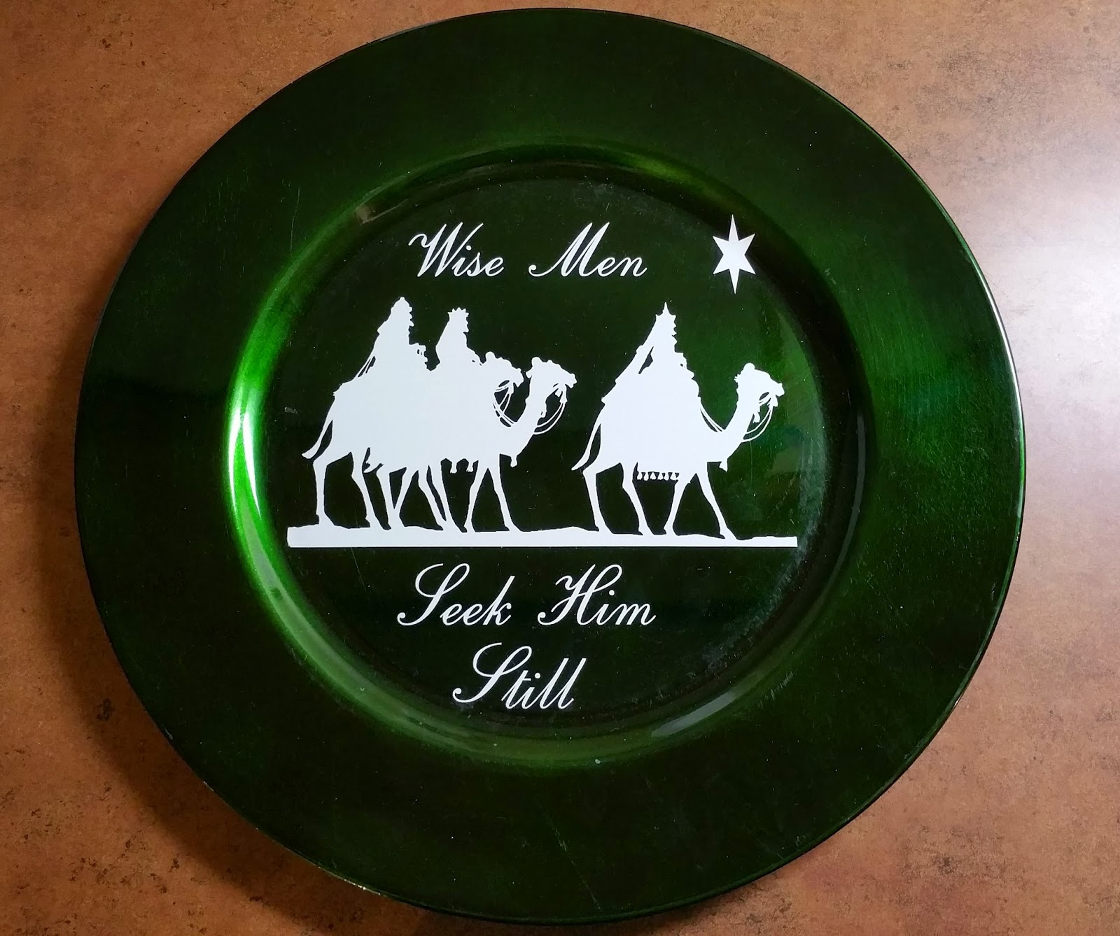 Wise Men Christmas Charger