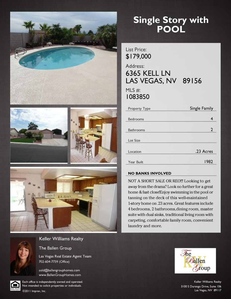 Las vegas is on sale single story home for sale with for Home for sale in las vegas with pool