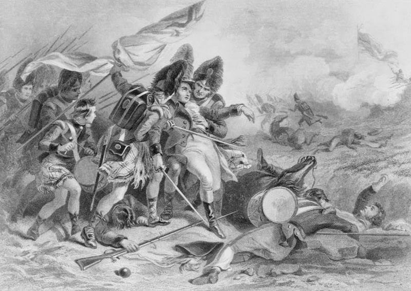 Death of Edward Pakenham at the Battle of New Orleans by Felix Octavius Carr Darley, 1860