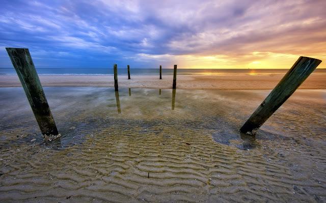 Fort Myers Beach Florida Nubes y Rocas Imagenes de Hermosos Paisajes HDR de Playas