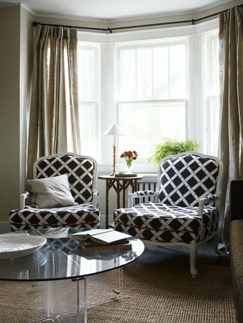 Eye for design decorate your interiors with lattice for Bay window furniture
