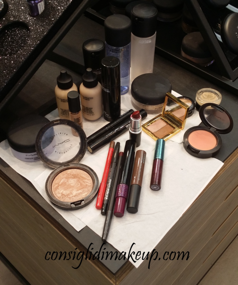 prodotti mac makeup lesson