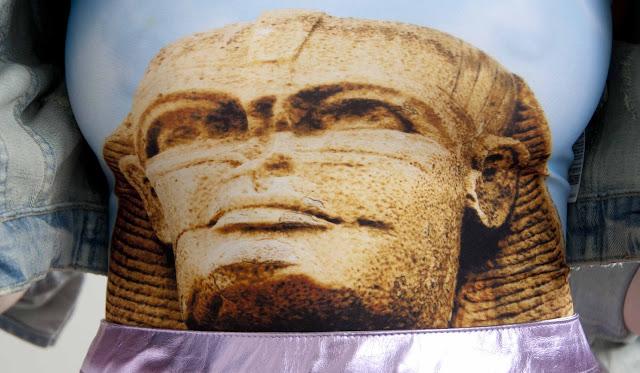 Egypt, print, bodysuit, Bambam, Asos