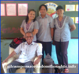 School heads of Cainaman Elementary School