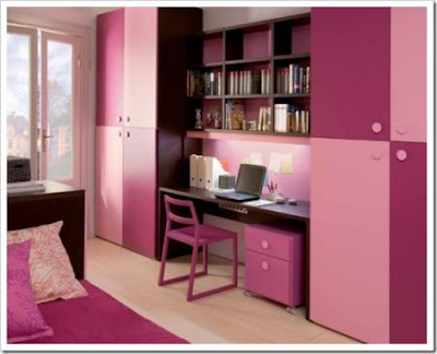 habitación con toques rosa