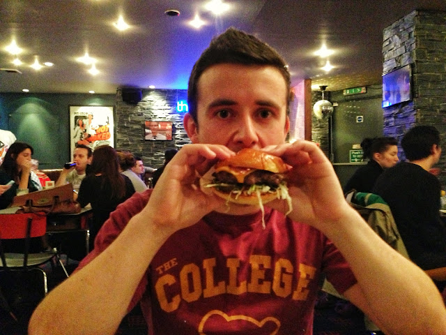 Eating my Bacon Burger