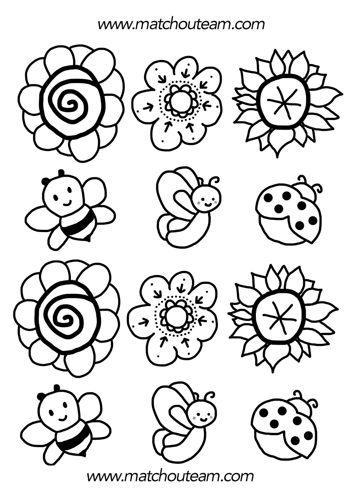 Ma tchou team bouquet de printemps - Coloriage de fleur ...